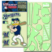 Milwaukee Brewers Lil' Buddy Glow In The Dark Decal Kit