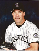 Mike Lansing Colorado Rockies 8x10 Photo