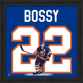 Mike Bossy New York Islanders 20x20 Framed Uniframe Jersey Photo