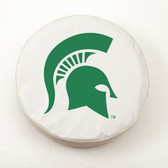 Michigan State Spartans White Tire Cover, Large
