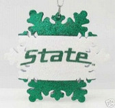 Michigan State Spartans Snowflake Ornament