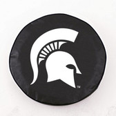 Michigan State Spartans Black Tire Cover, Large