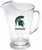 Michigan State Spartans 64 oz. Crystal Clear Plastic Pitcher