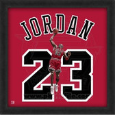 Michael Jordan Chicago Bulls 20x20 Framed Uniframe Jersey Photo