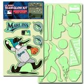 Miami Marlins Lil' Buddy Glow In The Dark Decal Kit