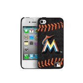 Miami Marlins iPhone 4/4s Hard Cover Case Red Stitch