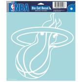 "Miami Heat Die-cut Decal - 8""x8"" White"