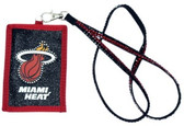 Miami Heat Beaded Lanyard Wallet