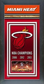 Miami Heat 2013 NBA Champions Framed Championship Banner