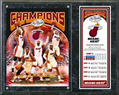 Miami Heat 2012 NBA Champions Team Plaque