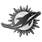 Miami Dolphins Silver Auto Emblem