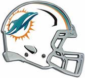 Miami Dolphins Auto Emblem - Helmet
