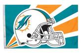 Miami Dolphins 3'x5' Helmet Design Flag