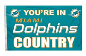 Miami Dolphins 3'x5' Country Design Flag 2324594137