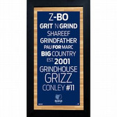 Memphis Grizzlies Subway Sign 6x12 Framed Photo
