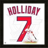 Matt Holliday St. Louis Cardinals 20x20 Framed Uniframe Jersey Photo