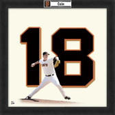 Matt Cain San Francisco Giants 20x20 Framed Uniframe Jersey Photo