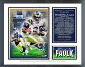 Marshall Faulk St. Louis Rams 2011 Hall of Fame Milestones & Memories Framed Photo