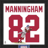 Mario Manningham New York Giants Super Bowl 46 20x20 Framed Uniframe Jersey Photo