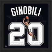 Manu Ginobli San Antonio Spurs 20x20 Framed Uniframe Jersey Photo