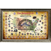 Major League Baseball Parks Map 20x32 Framed Collage w/ Game Used Dirt From 30 Parks - Rockies Version