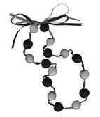 Lucky Kukui Nuts Necklace - Black/Silver
