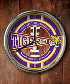 LSU Tigers Chrome Clock