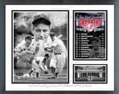 Lou Gehrig New York Yankees Captain Milestones & Memories Framed Photo