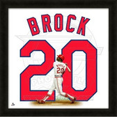 Lou Brock St. Louis Cardinals 20x20 Framed Uniframe Jersey Photo