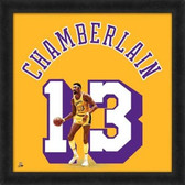 Los Angeles Lakers Wilt Chamberlain 20X20 Framed Uniframe Jersey Photo
