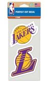 Los Angeles Lakers Set of 2 Die Cut Decals