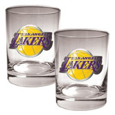 Los Angeles Lakers Rocks Glass Set