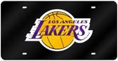 Los Angeles Lakers Laser Cut Black License Plate