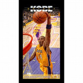 Los Angeles Lakers Kobe Bryant Los Angeles Lakers Player Profile Wall Art 9.5x19 Framed Photo