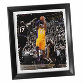 Los Angeles Lakers Kobe Bryant Fade-Away Jump Shot Framed Stretched 32x40 Canvas