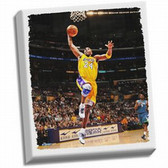 Los Angeles Lakers Kobe Bryant Dunk Stretched 32x40 Canvas