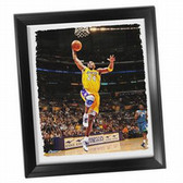 Los Angeles Lakers Kobe Bryant Dunk Framed Stretched 22x26 Canvas