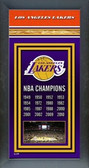 Los Angeles Lakers Framed Championship Banner