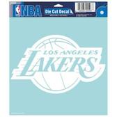 """Los Angeles Lakers Die-cut Decal - 8""""x8"""" White"""