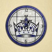 "Los Angeles Kings 12"" Art Glass Clock"