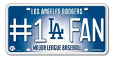 Los Angeles Dodgers License Plate - #1 Fan