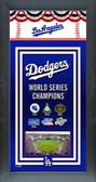 Los Angeles Dodgers Framed Championship Banner