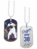 Los Angeles Dodgers Eric Gagne Sport Dog Tagz Necklace