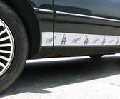 Los Angeles Dodgers Car Trim Magnets