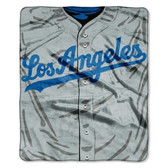 "Los Angeles Dodgers 50""x60"" Royal Plush Raschel Throw Blanket - Jersey Design"