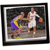 Los Angeles Clippers Chris Paul Framed Stretched 32X40 Canvas