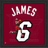 Lebron James Miami Heat 20x20 Framed Uniframe Jersey Photo