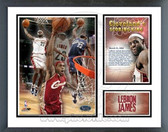 Lebron James 2008 Cleveland Cavaliers All-Time Leading Scorer Milestones & Memories Framed Photo
