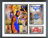 Lebron James 2008 Cleveland Cavaliers All-Star Game MVP Milestones & Memories Framed Photo