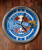 Kentucky Wildcats Chrome Clock
